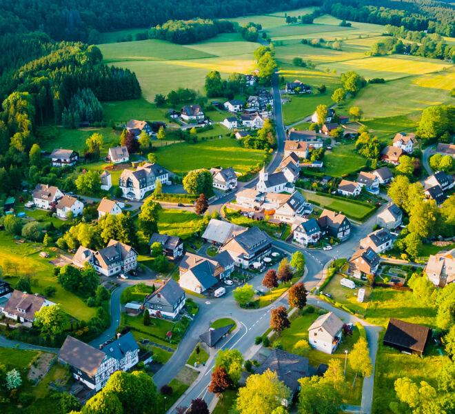 Winterberg Elkeringhausen von Oben - Drohnenfotografie
