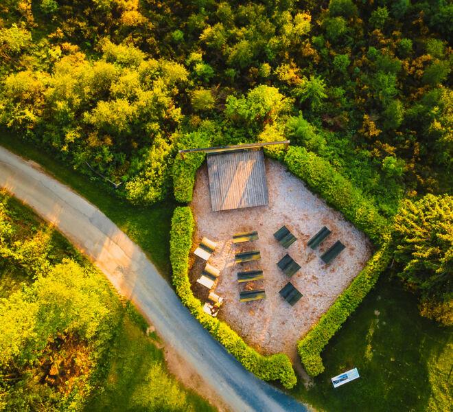 Winterberg Elkeringhausen von Oben Naturkino - Drohnenfotografie
