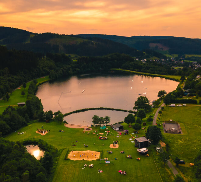Winterberg Hillebachsee von Oben -Drohnenfotografie